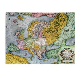 Gerardus Mercator 'Europe In the 1590's' Canvas Art