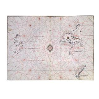'Nautical Chart of the Pacific Ocean, 1500's' Canvas Art