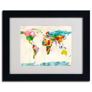 Michael Tompsett 'Watercolor Countries' Framed Matted Art