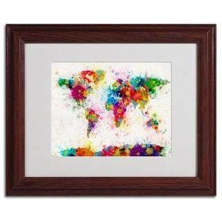 Michael Tompsett 'World Map...Paint' Framed Matted Art