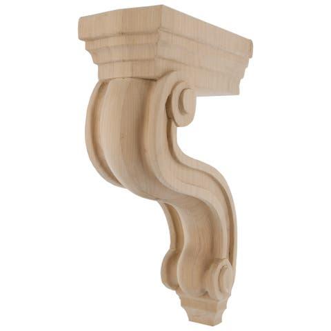 GlideRite Bracket Hand-carved Solid Hardwood Corbel