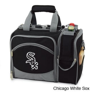 MLB 'Malibu' Utensils and Dishes Insulated Polyester Picnic Pack (Option: Chicago White Sox)