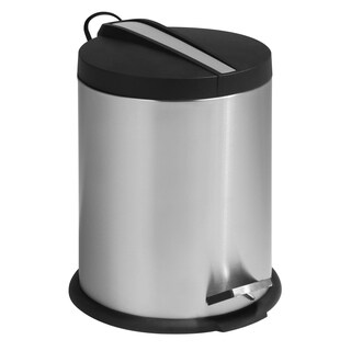 Honey-Can-Do TRS-01159 Two-tone Steel Round Step Trash Can