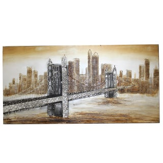 'The Bridge' New York Hand-painted Canvas Wall Art Decor