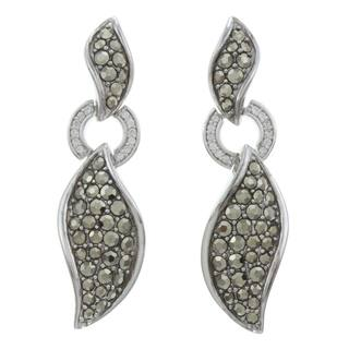 CHROMA Sterling Silver CZ Earrings Made with Swarovski Element MARCASITE|https://ak1.ostkcdn.com/images/products/7963539/7963539/CHROMA-Sterling-Silver-CZ-Earrings-Made-with-SWAROVSKI-MARCASITE-P15334987.jpg?impolicy=medium