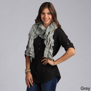 Link to Saro Women's Petite Floral Design Scarf Similar Items in Scarves & Wraps