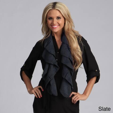 Saro Women's Knitted Ruffle Scarf
