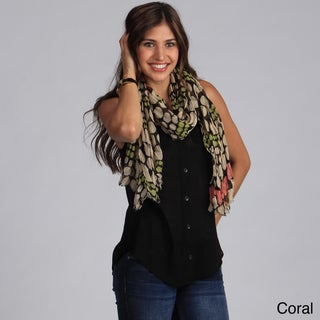Women's Dotted Print Lightweight Scarf