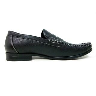 Ferro Aldo Men's Leatherette Penny Loafers