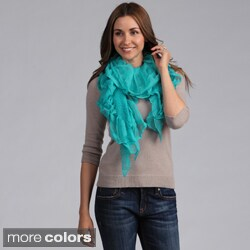 Women's Solid Sheer Ruffled Shawl