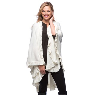 Saro Women's Long Ruffled Wrap (Option: Ivory)