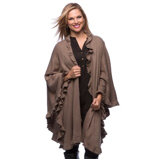 Saro Women's Long Ruffled Wrap (Option: Brown)