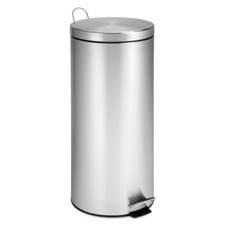 Stainless Steel 30-literStep Trash Can with Bucket