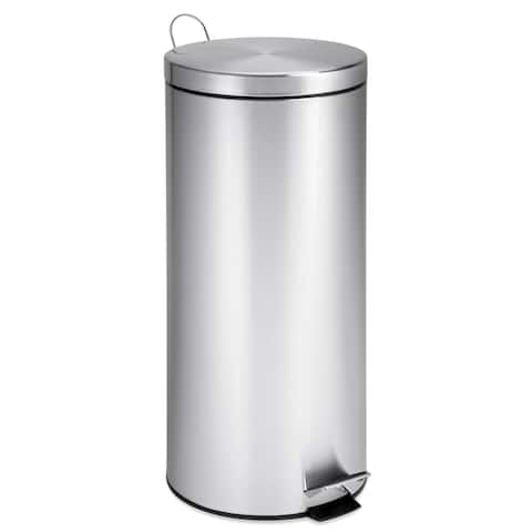 Honey-Can-Do Stainless Steel 30-literStep Trash Can with Bucket