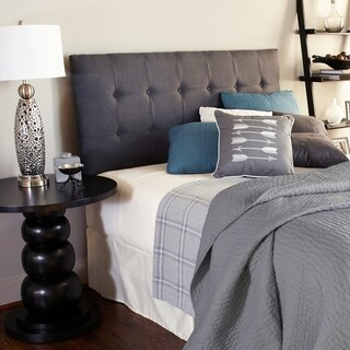 Humble + Haute Stratton Charcoal Upholstered Headboard