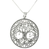 Sterling silver tree of life necklace free shipping today silver celtic tree of life necklace aloadofball Choice Image