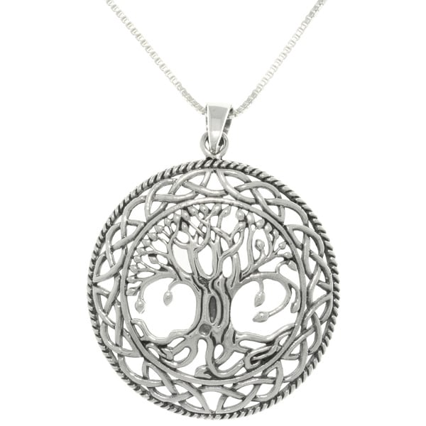 Carolina glamour collection silver celtic tree of life for What is the meaning of the tree of life jewelry