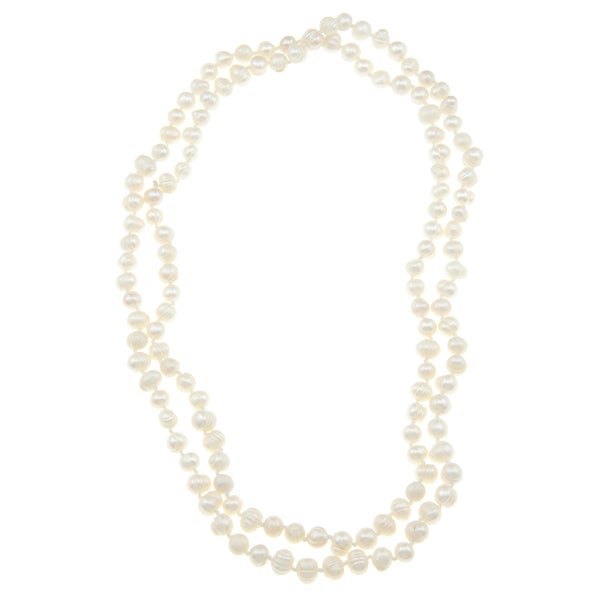 White 5-6mm Freshwater Pearl Necklace (50 inch)