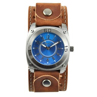 Nemesis Men's Blue Dial Leather Strap Watch