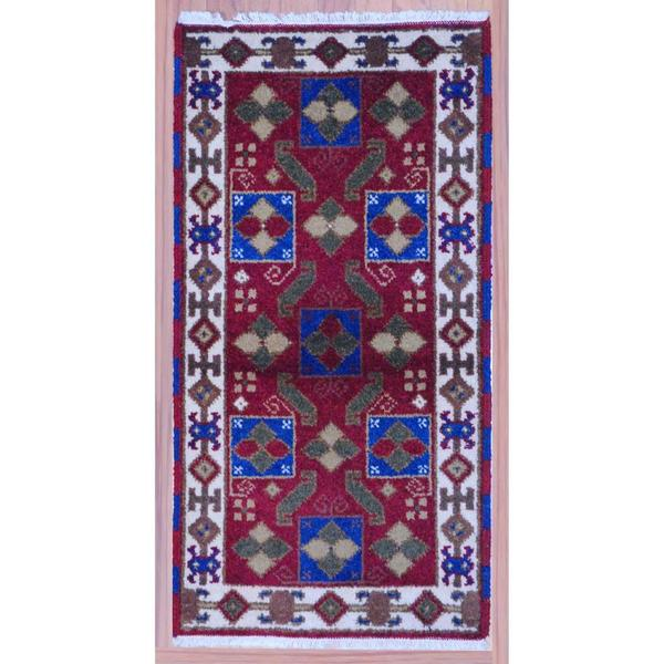 Herat Oriental Indo Hand-knotted Kazak Wool Rug (2'2 x 4') - 2'2 x 4'