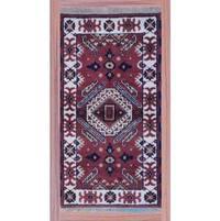 Handmade Herat Oriental Indo Kazak Wool Rug (India) - 2'2 x 4'