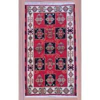 Herat Oriental Indo Hand-knotted Kazak Wool Rug - 2'2 x 4'