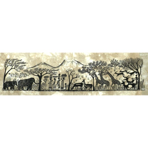 Handmade Kilimanjaro Heidi Lange Screen Print (Kenya)