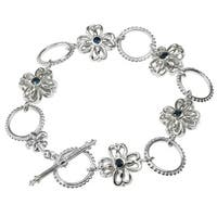 Dallas Prince Blue Sapphire Toggle Bracelet