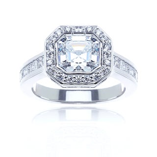 Blue Box Jewels Sterling Silver Cubic Zirconia Engagement Ring