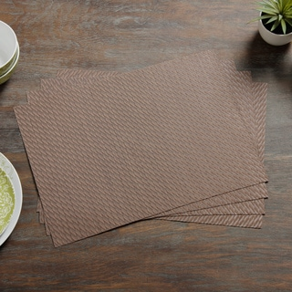 Twill Woven Vinyl Placemats (Set of 4)