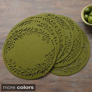Shop Leaf Felt 15 Inch Round Placemats Set Of 6 Free