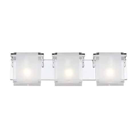 Zephyr 3-light Chrome Wall Sconce