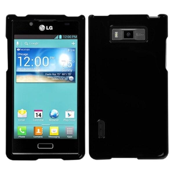 MYBAT Solid Black Phone Protector Case for LG US730 Splendor