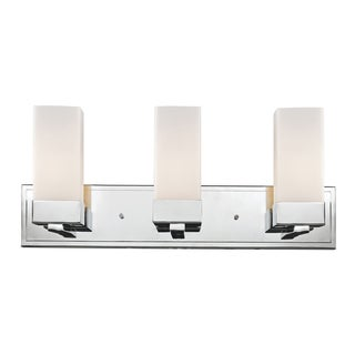 Sapphire 3-light Polished Chrome Vanity