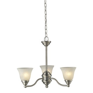 Athena 3-light Brushed Nickel Chandelier