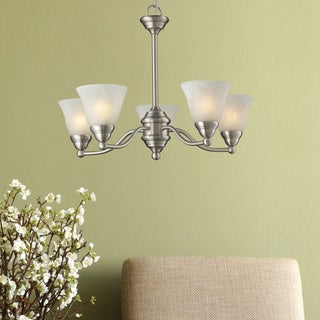 Athena 5-light Brushed Nickel Chandelier