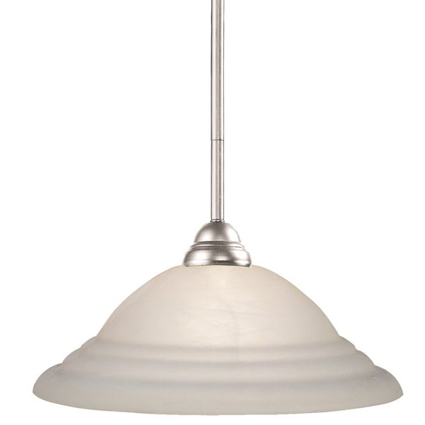 Riviera Brushed Nickel 1-light Pendant Lamp