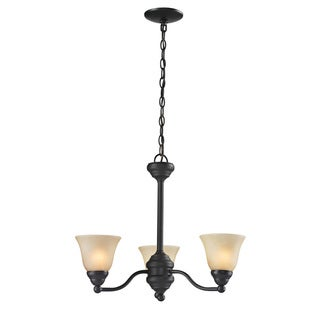Athena 3-light Bronze Chandelier