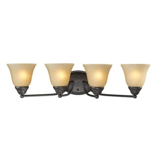 Athena 4-light Bronze Vanity Fixture