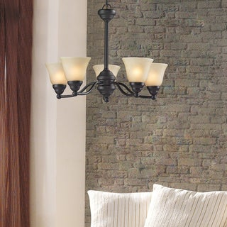 Athena 5-light Bronze Chandelier