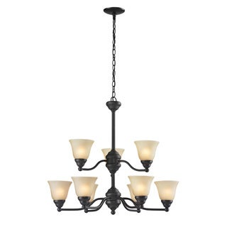 Athena 9-light Bronze Chandelier