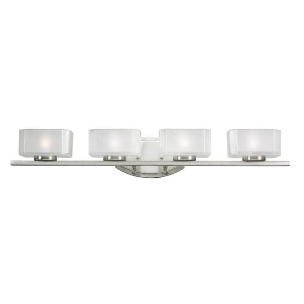 Cabro 4-light Brushed Nickel Vanity