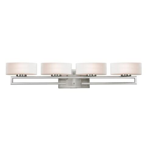 Cetynia 4-light Brushed Nickel Vanity