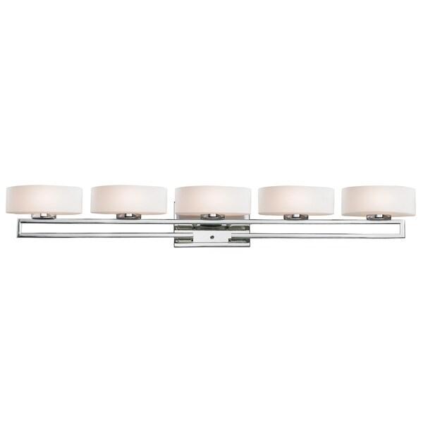 Cetynia 5-light Chrome Vanity
