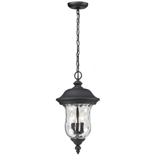 Armstrong Outdoor Black Three-Light 60-Watt Chain Fixture