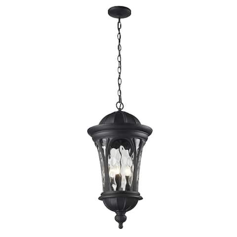 Doma 5-light Black Hanging Lantern
