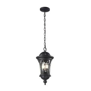 Doma 3-light Black Hanging Lantern