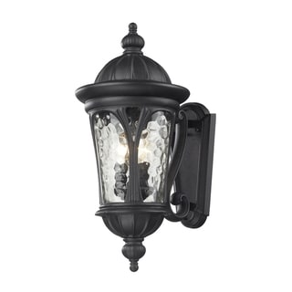 Doma 3-light Black Outdoor Wall Fixture