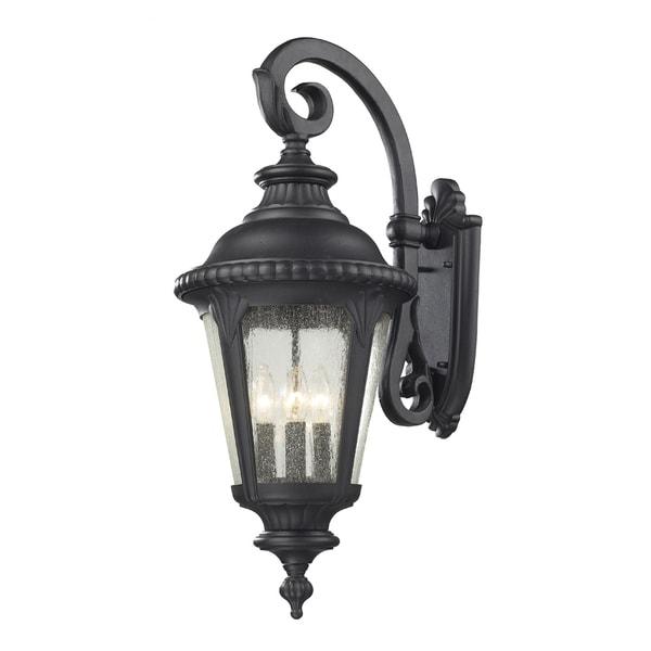 Outdoor Lighting On Sale: Shop Medow 4-light Black Outdoor Wall Fixture