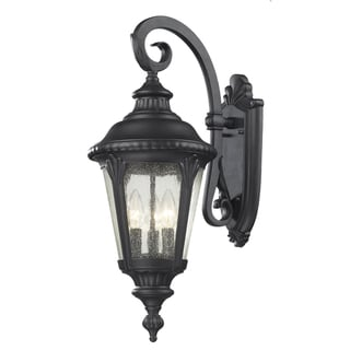 Medow 3 Light Black Outdoor Wall Fixture